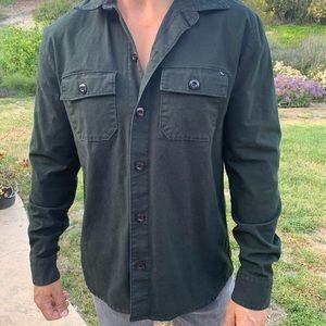 Lost enterprises black button down shirt